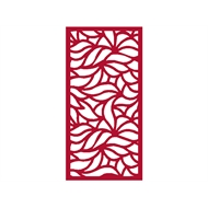 Protector Aluminium 1200 x 2400mm Profile 15 Decorative Panel Unframed - Dark Red