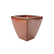 Northcote Pottery 280mm Copper Glazed Terracotta Primo Mod Square Pot