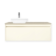 Forme 1200mm Colourstone / Antique White Quay Cubo Wall Hung Vanity