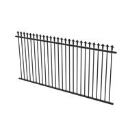 Protector Aluminium 2450 x 1200mm J Spear Top Ulti-M8 Fence Panel - Satin Black