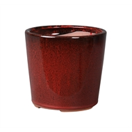 Northcote Pottery 17 x 17cm Wine Red Glazed Oslo Cone