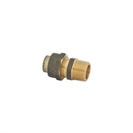 Kinetic 15FL x 15MI Brass Male Flared Compression Union