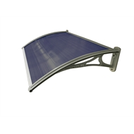 Altamonte 1200 x 700mm Atlanta Tinted Fluted Canopy With Plastic Bracket