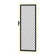 Protector Aluminium 808-848 x 2030-2070mm Adjustable Grille Security Door - White Birch