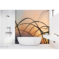 Bellessi 445 x 2600 x 4mm Motiv Polymer Bathroom Panel - Sunset Strands