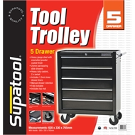 Supatool 5 Drawer Tool Trolley