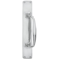 Delf Architectural 300mm Chrome Classic Offset Door Pull With Plate
