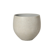 Lotus 32 x 28cm Grey Medium Wash Moon Fibre Cement Pot