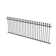 Protector Aluminium 2450 x 900mm J Spear Top Fence Panel - Monument
