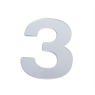 Sandleford 25mm 3 Silver Self Adhesive Numerals