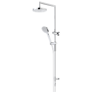 Dorf WELS 3 Star 9L/Min Chrome Bliss Rail Shower with Overhead