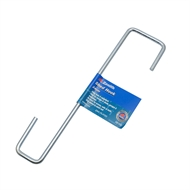 Zenith 24cm Zinc Plated 2 Square Shed Hook