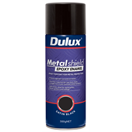 Dulux Metalshield 300g Satin Black Epoxy Enamel Spray Paint