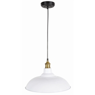 Brilliant 38cm Maxwell White Metal Shade