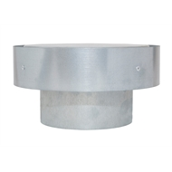 Pacific Air 100mm Galvanised Steel Gas Cowl