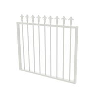 Protector Aluminium 975 x 900mm J Spear Top Garden Gate - To Suit Self Closing Hinges - Pearl White