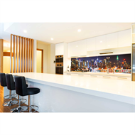 Bellessi 760 x 2600 x 4mm Motiv Graphic Splashback  - Manhattan Night