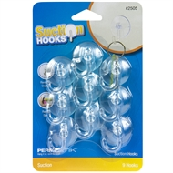 Permastik Home Essentials Suction Hooks - 9 Pack