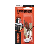 Ramset Spring Toggle With White Hook  - 2 Pack