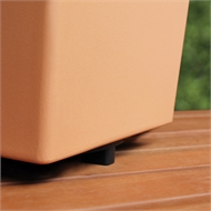 HomeLeisure 300mm Terracotta Floor Saver Plant Stand