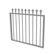 Protector Aluminium 975 x 900mm J Spear Top Garden Gate - To Suit Self Closing Hinges - Woodland Grey