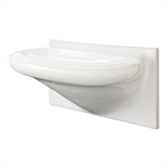 Roberts Designs 200 x 100mm White Foot Rest Ceramic Tile
