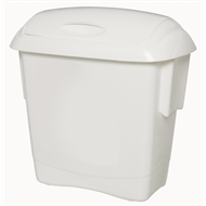Oates 13L White Check Out Rubbish Bin