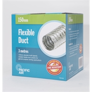 Pacific Air 3m x 150mm Aluminium Foil Flexible Duct