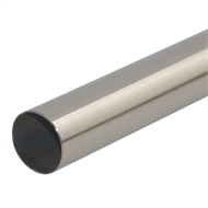 Pillar Products 32mm x 2.0m Brushed Chrome Curtain Rod