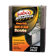 Sabco Bulldozer Heavy Duty BBQ and Grill Scrubs - 2 Pack
