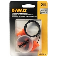 DeWALT Bell Shape Corded Disposable Foam Earplugs - 2 Pairs