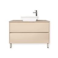Forme 1200mm Hogsbristle Quay Cubo Floor Vanity With Colourstone Benchtop
