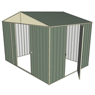 Build-a-Shed 3.0 x 2.3 x 2.3m Double Sliding and Single Hinge Door Narrow Shed - Green
