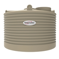 Polymaster 2250L Squat Round Corrugated Poly Water Tank - Merino