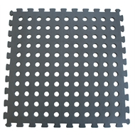 Polytuf 50 x 50cm Black Foam Mats With Holes - 4 Pack