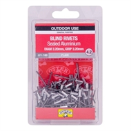 Otter 3.2 x 3.2mm Sealed Aluminium Rivets - 100 Pack