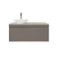 Quay 900mm Iron Ore Colourstone Organic Wall Hung Vanity