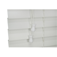Zone Interiors 150 x 210cm 50mm Winter White PVC Economical Long Island Venetian Blind