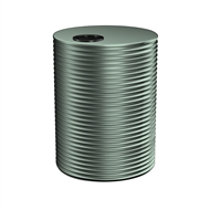 Kingspan 8000L Round Steel Water Tank - 2400mm x 1860mm Cottage Green