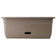 HomeLeisure 450mm Taupe WaterSaver Contemporary Rectangular Planter