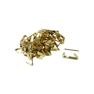 Everhang 8kg Brass Plated Picture Hooks - 100 Pack