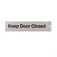 Sandleford 245 x 58mm Keep Door Closed Self Adhesive Sign