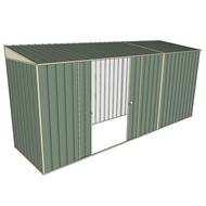 Build-A-Shed 1.2 x 4.5 x 2.0m Zinc Skillion Double Sliding Side Door Shed - Green