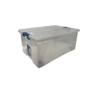 Inabox 35L Clear Storage Container With Wheels