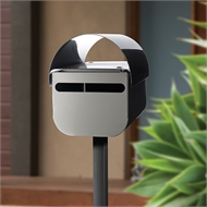 Sandleford Woodland Grey Black Buddy Post Mount Letterbox