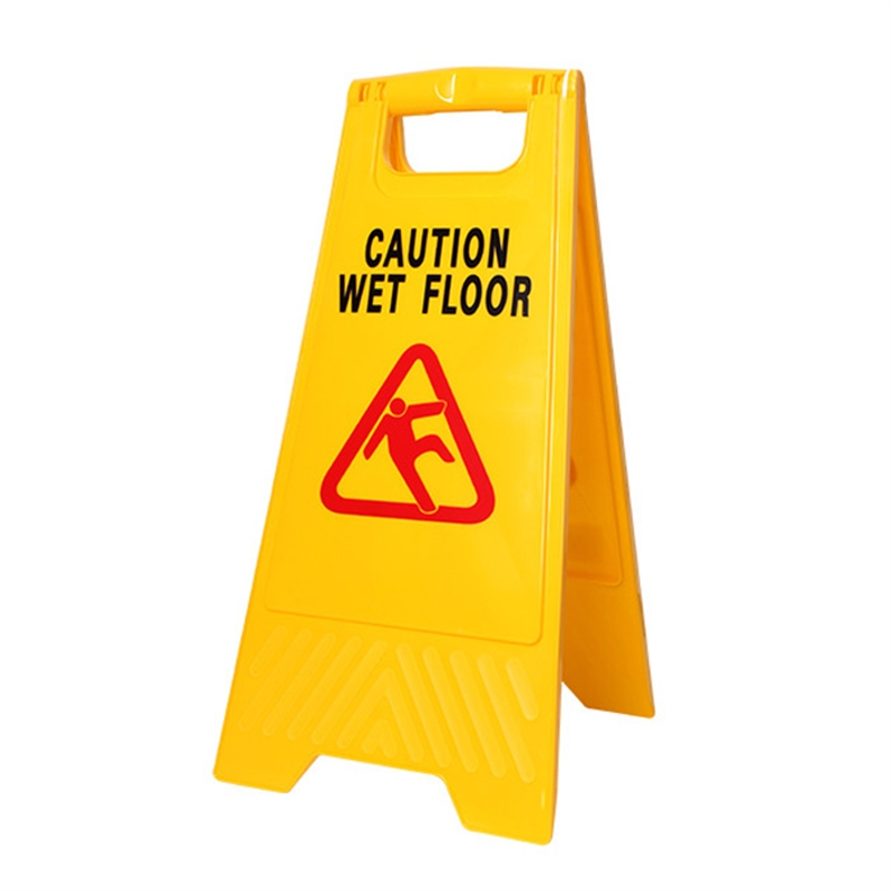 mr clean 24 yellow workplus wet floor caution sign. Black Bedroom Furniture Sets. Home Design Ideas