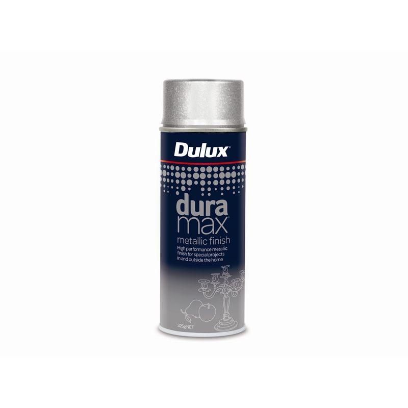 Dulux duramax 325g metallic spray paint metallic silver Spray paint for metal
