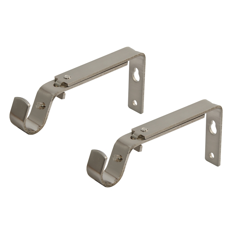 Pillar 25mm Brushed Chrome Curtain Rod Bracket