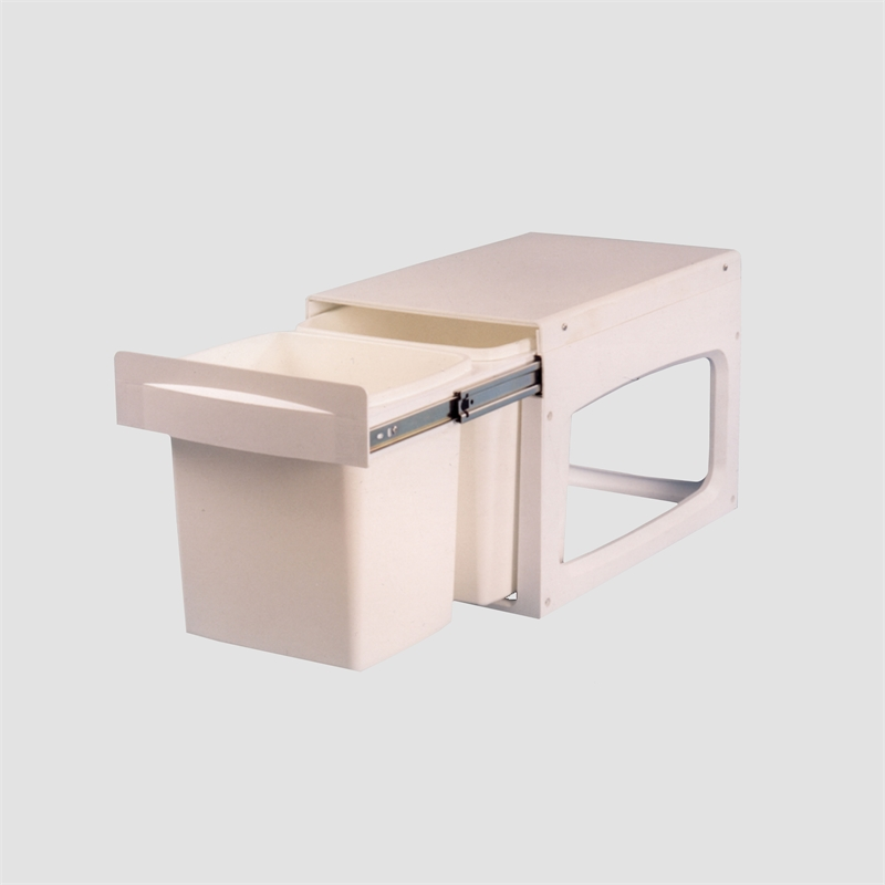 White Kitchen Bin kimberley products 53 x 36 x 35cm white plastic concealed twin