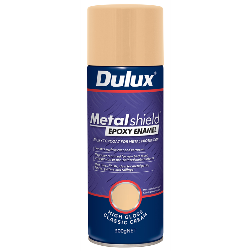 dulux metalshield 300g high gloss classic cream epoxy